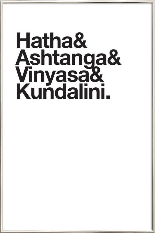 Yoga Poster i aluminiumram