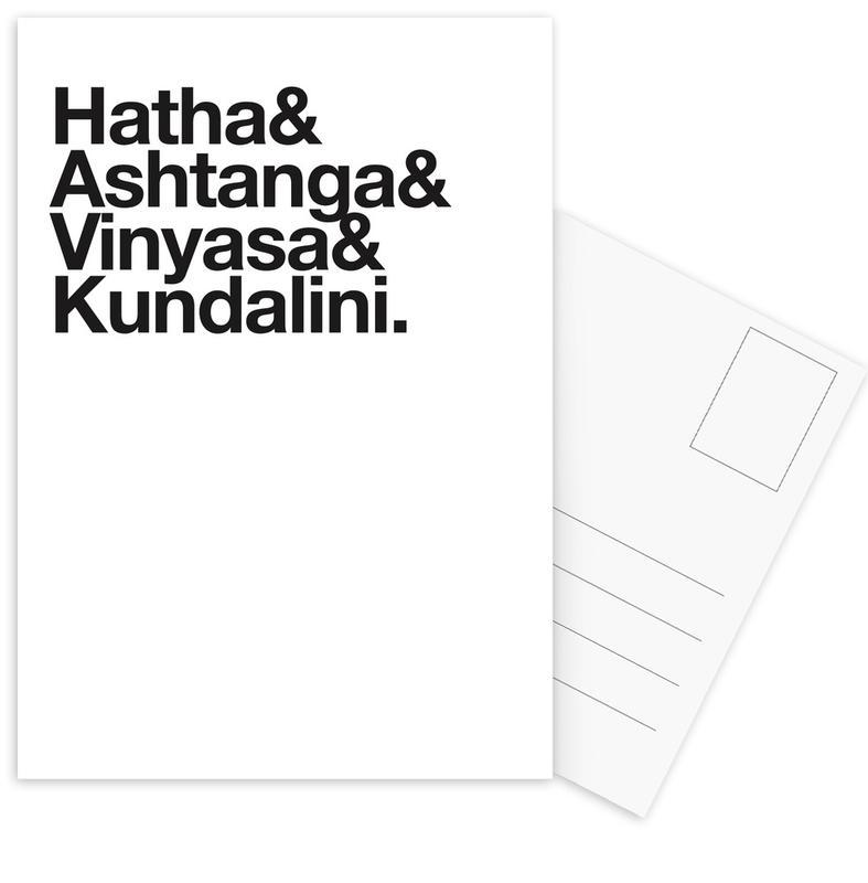 Black & White, Yoga, Yoga Postcard Set