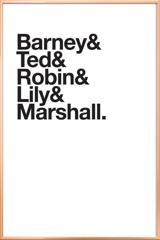 Maclaren's heroes Poster i aluminiumram