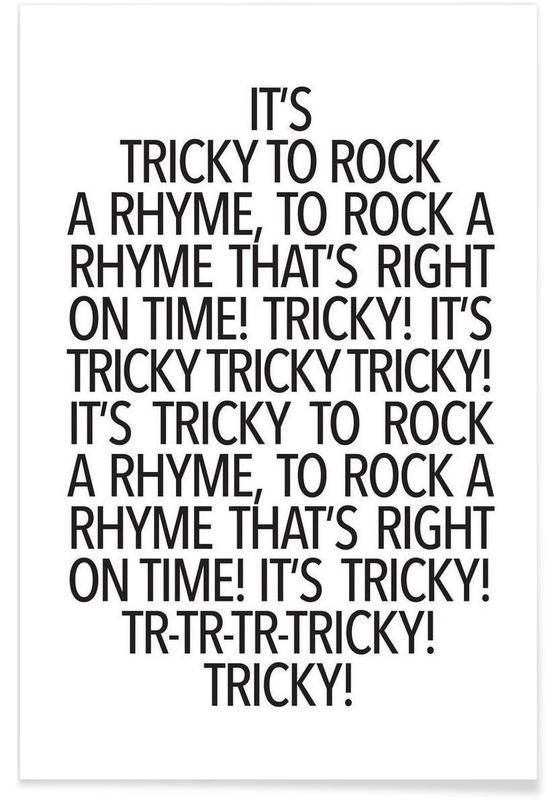 Noir & blanc, Paroles de chansons, Rock a rhyme affiche