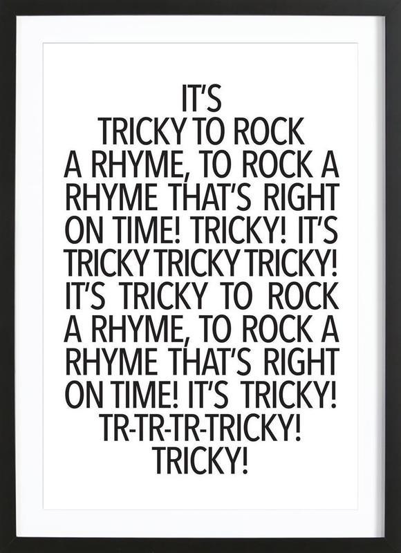 Rock a rhyme -Bild mit Holzrahmen