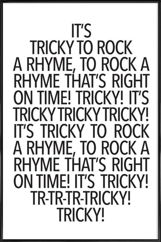 Rock a rhyme Framed Poster