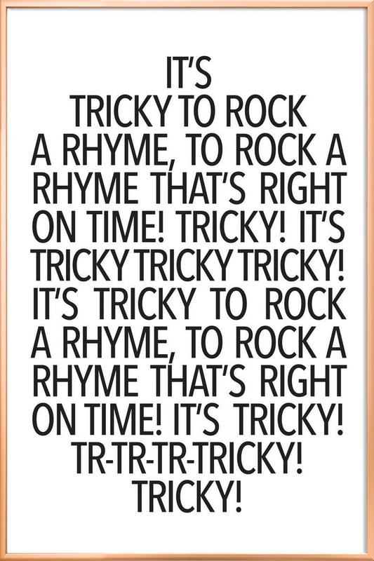 Rock a rhyme Poster in Aluminium Frame