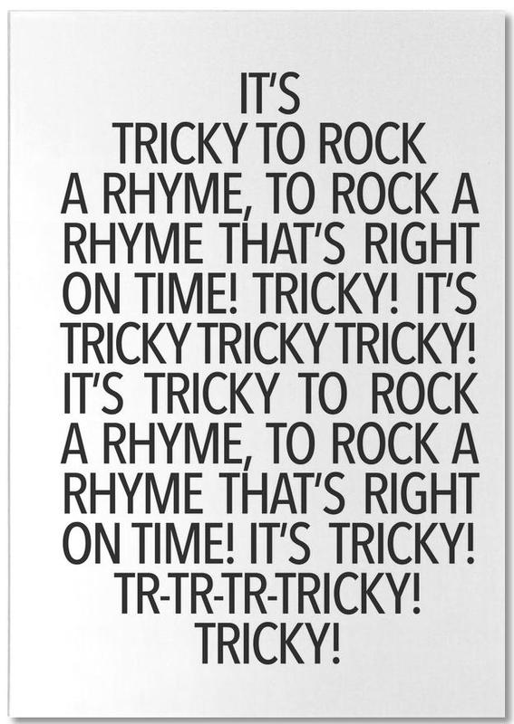 Rock a rhyme bloc-notes