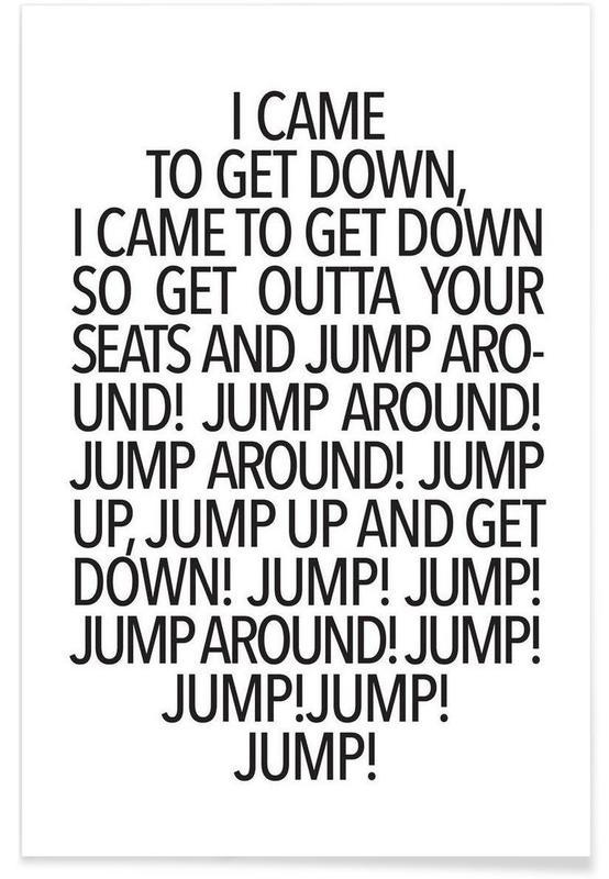 Sort & hvidt, Lyrik, Jump! Plakat