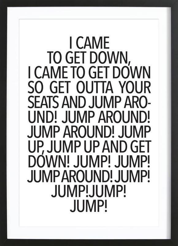 Jump! affiche sous cadre en bois
