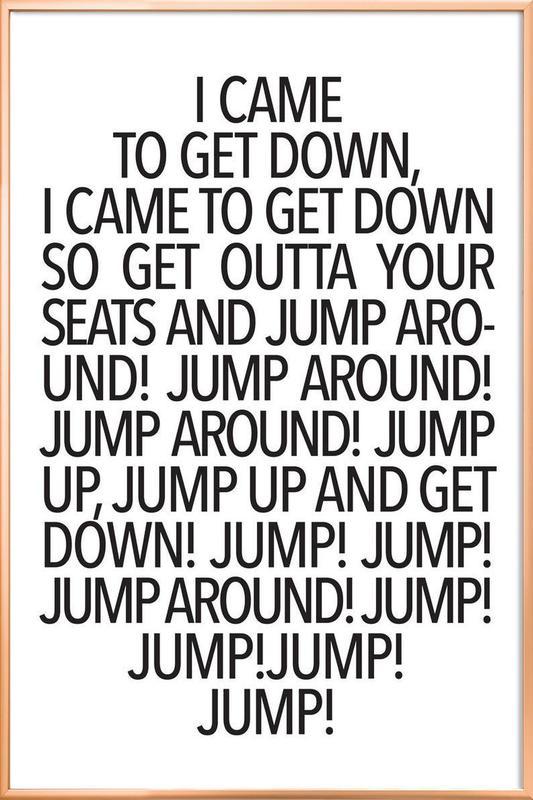 Jump! Poster i aluminiumram