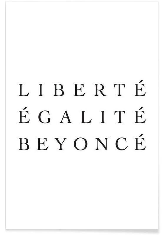 Noir & blanc, Humour, Citations et slogans, LIBERTÉ affiche