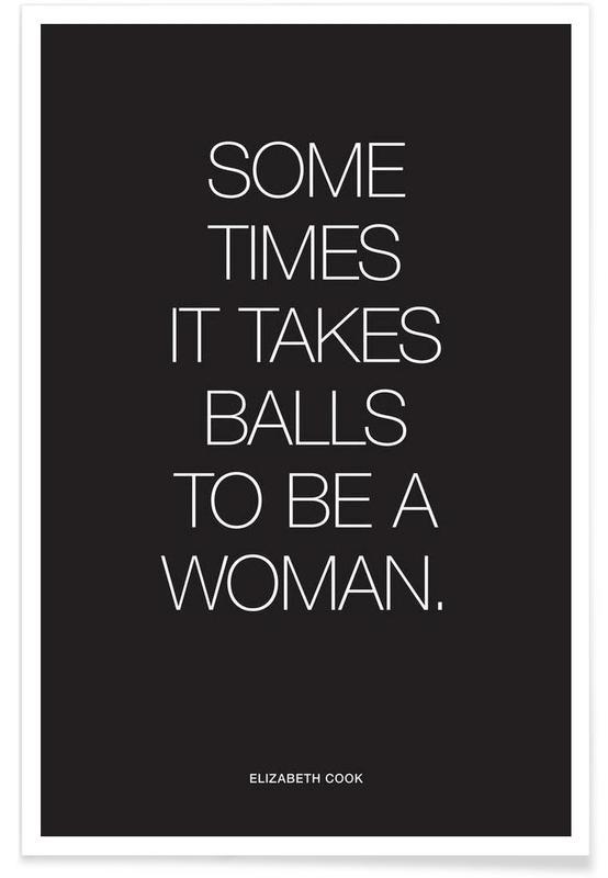 Balls Black póster