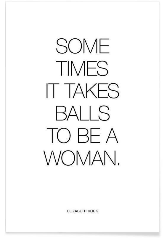 Balls White Poster