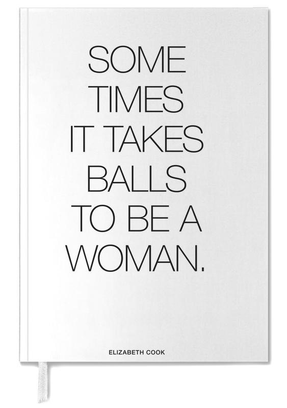 Black & White, Motivational, Quotes & Slogans, Balls White Personal Planner