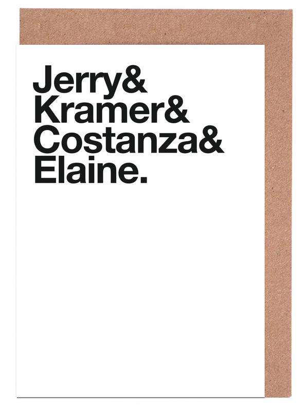 Tv-series, Quotes en slogans, Zwart en wit, Jerry wenskaartenset