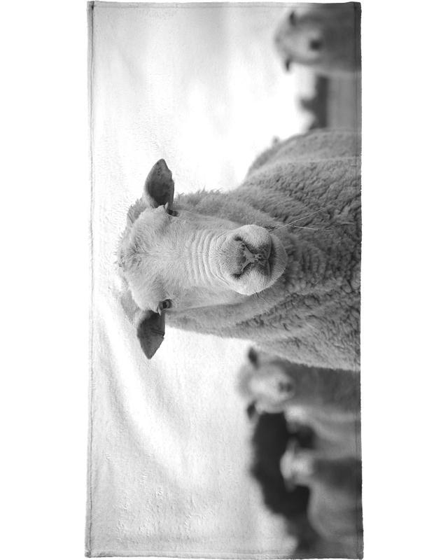 Black & White, Sheep, The Sheep Bath Towel