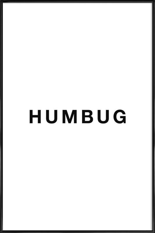 Humbug -Bild mit Kunststoffrahmen