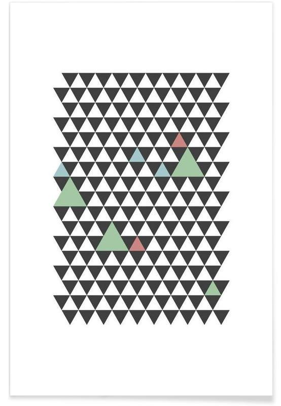 Svart & vit, Mönster, Nordic Pattern Poster
