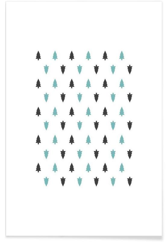 Mönster, Nordic Trees Poster