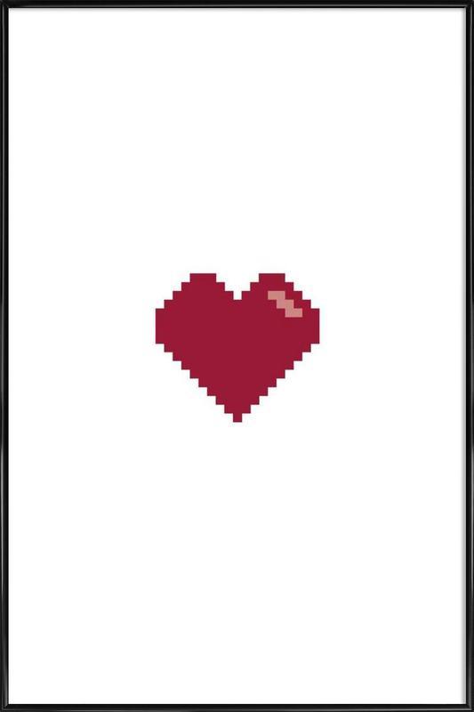 Pixel Heart Poster i standardram