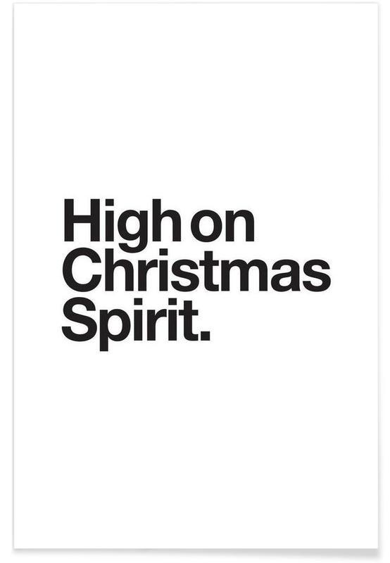 Blanco y negro, Navidad, Spirit póster
