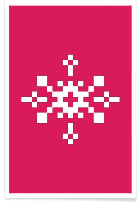 Jul, Pink Snowflake 1 Plakat