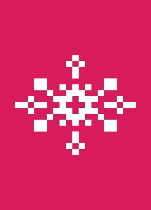 Pink Snowflake 1 Canvastavla