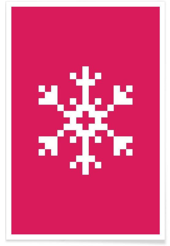 Jul, Pink Snowflake 2 Plakat
