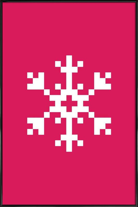 Pink Snowflake 2 Framed Poster