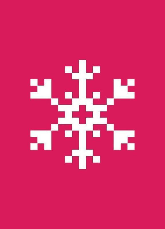 Pink Snowflake 2 -Leinwandbild