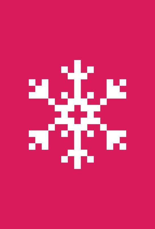 Pink Snowflake 2 Acrylic Print