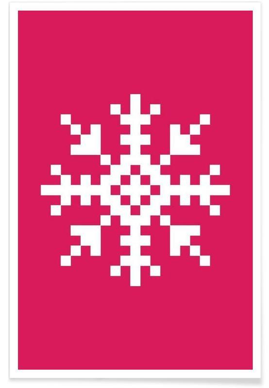 Jul, Pink Snowflake 3 Plakat