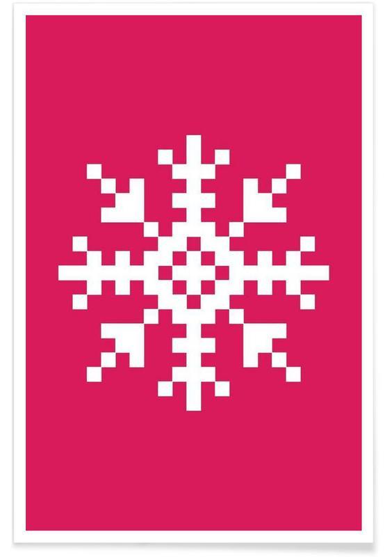 Pink Snowflake 3 poster