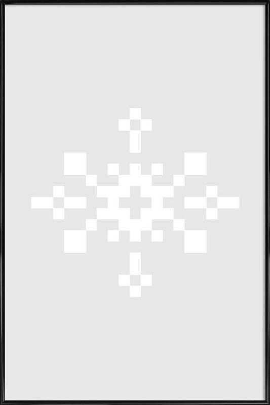 White Snowflake 1 Framed Poster
