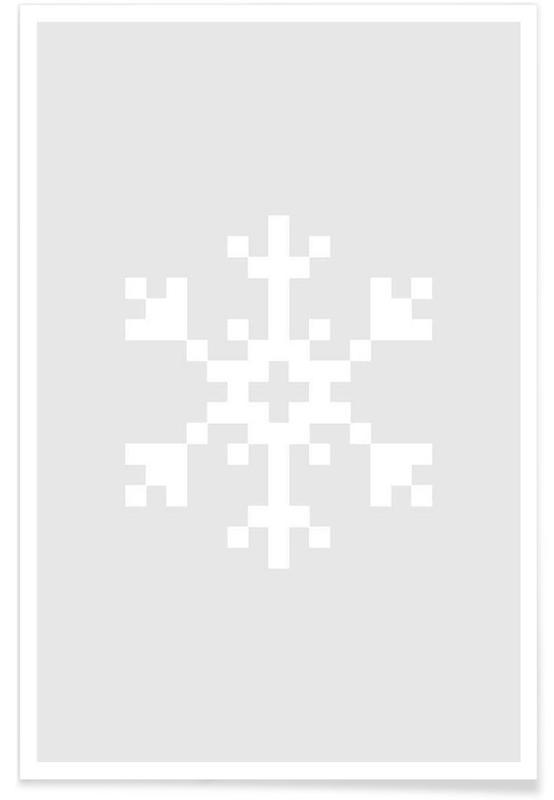 Jul, White Snowflake 2 Plakat
