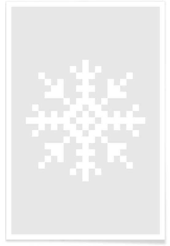 Jul, White Snowflake 3 Plakat