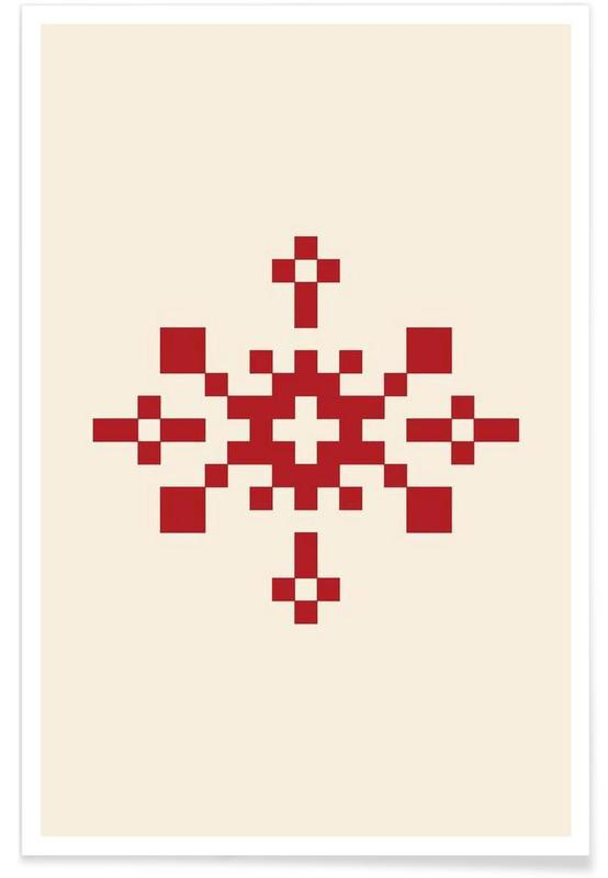Red Snowflake 1 Poster