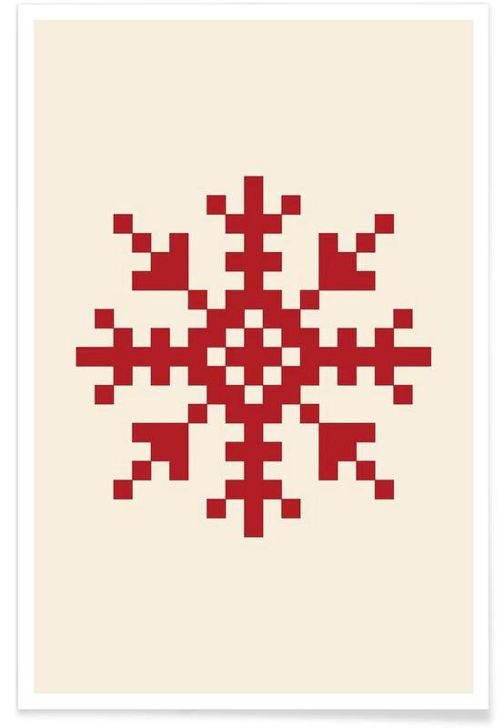Jul, Red Snowflake 3 Plakat