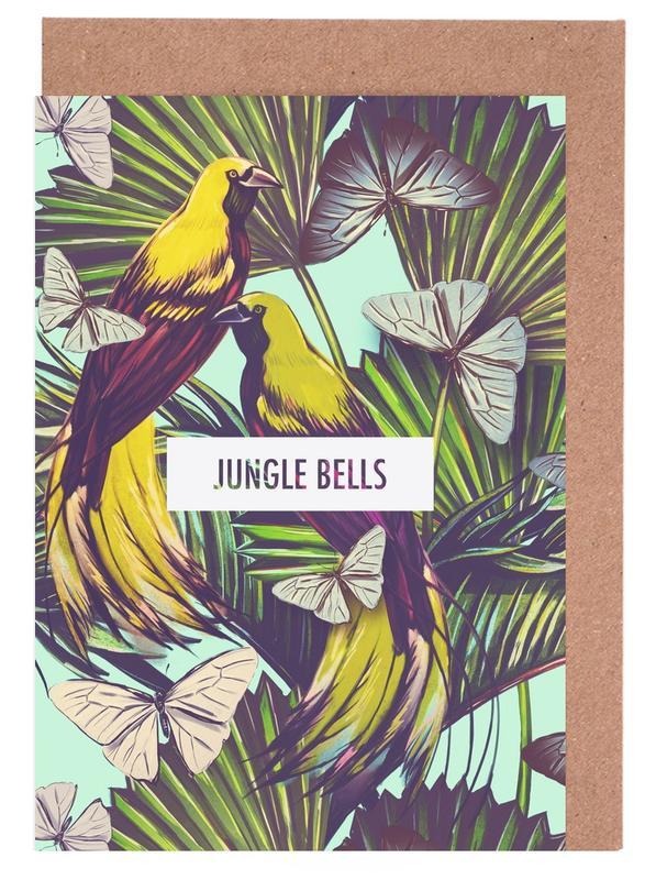 Schmetterlinge, Blätter & Pflanzen, Jungle Bells! -Grußkarten-Set