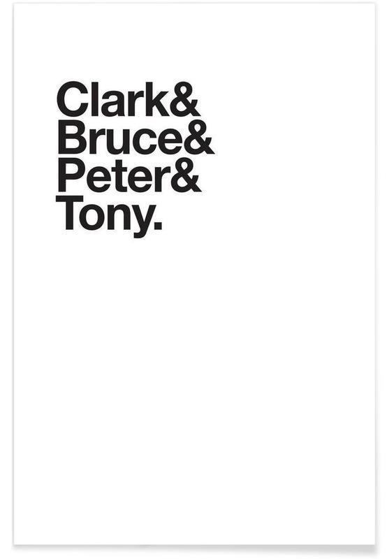 Sort & hvidt, Secret Heroes Plakat
