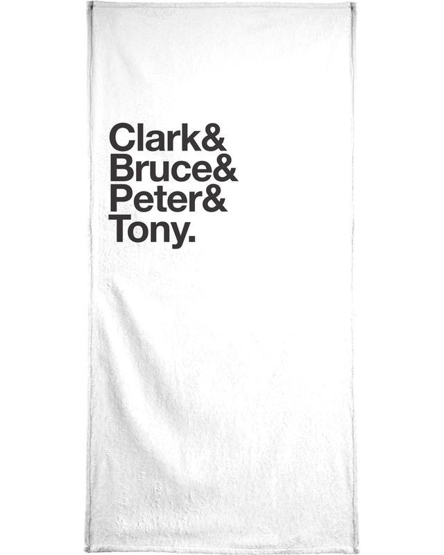 Schwarz & Weiß, Secret Heroes -Handtuch