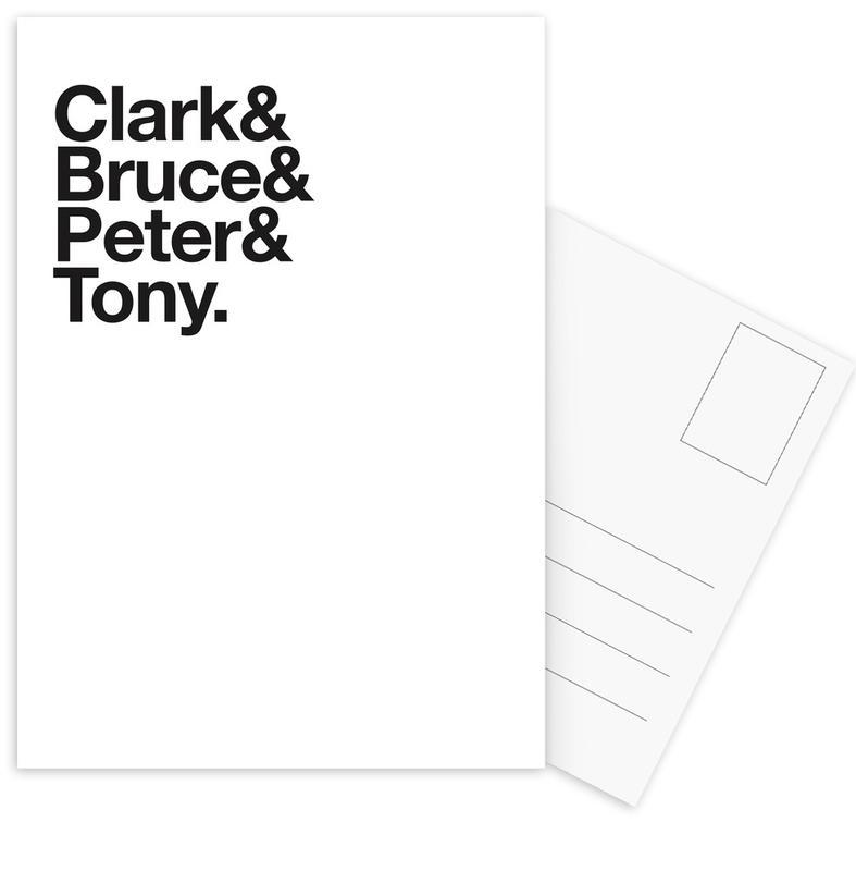 Black & White, Secret Heroes Postcard Set