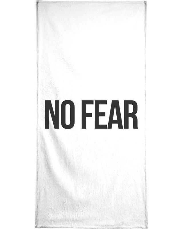 Schwarz & Weiß, Zitate & Slogans, No Fear -Handtuch