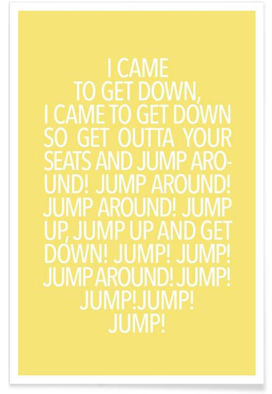 Jump Yellow Poster