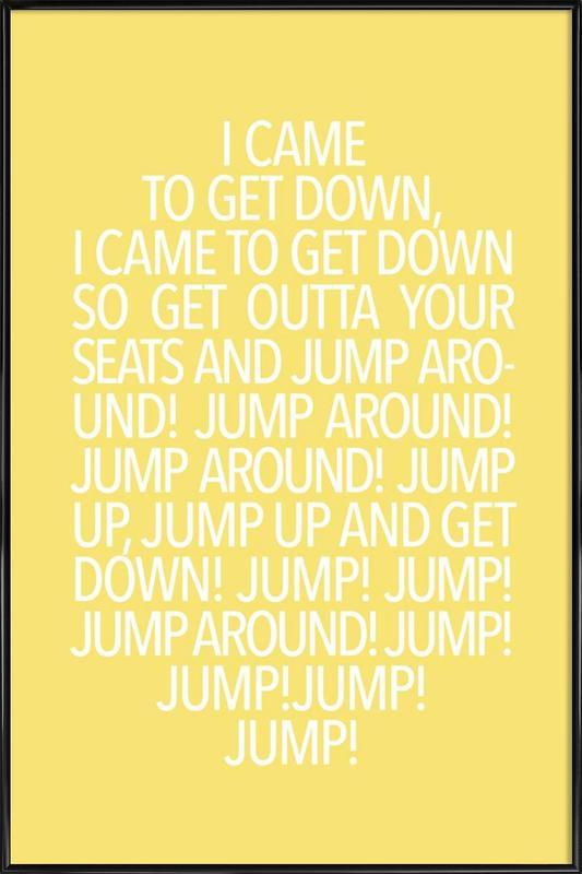 Jump Yellow affiche encadrée