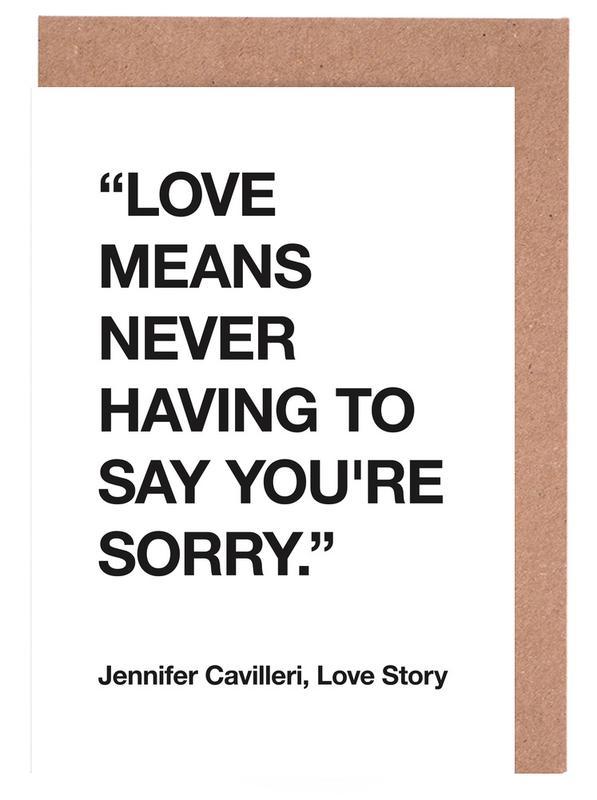Love Story Greeting Card Set