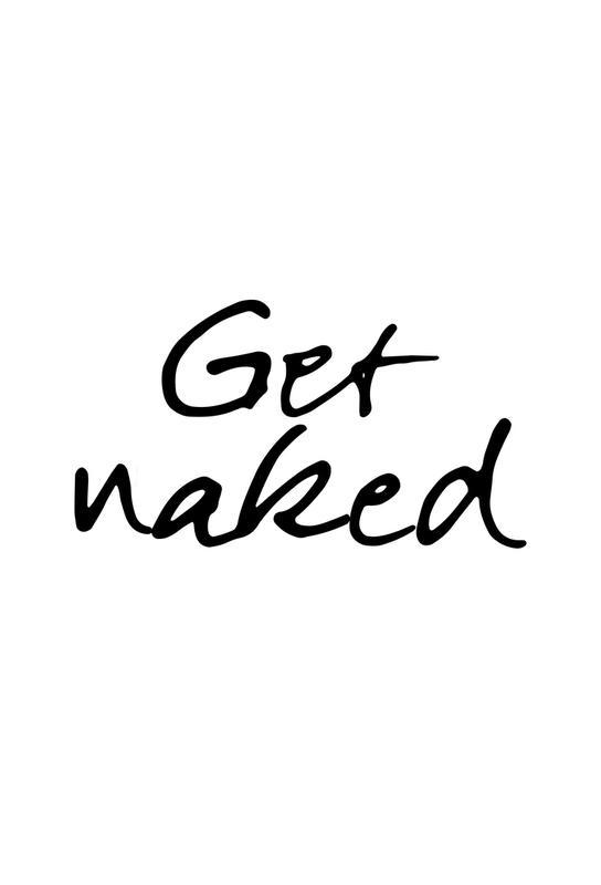 Get Naked Aluminium Print