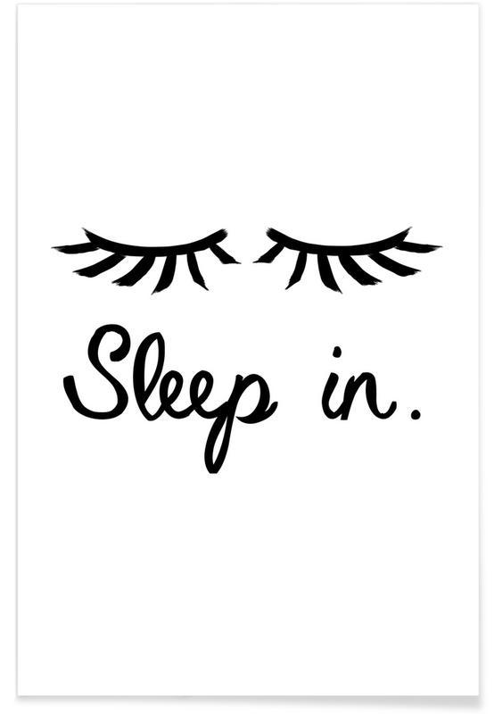 Sort & hvidt, Sleep In Plakat