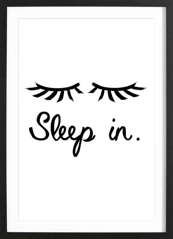 Sleep In ingelijste print