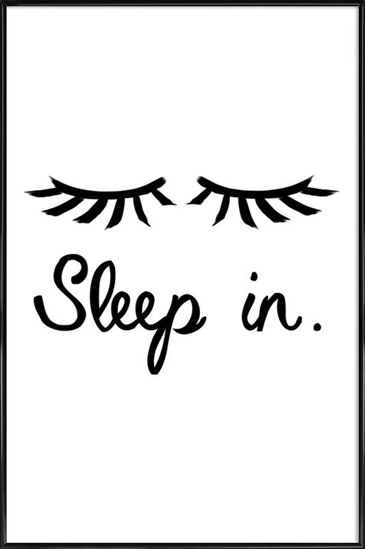 Sleep In affiche encadrée