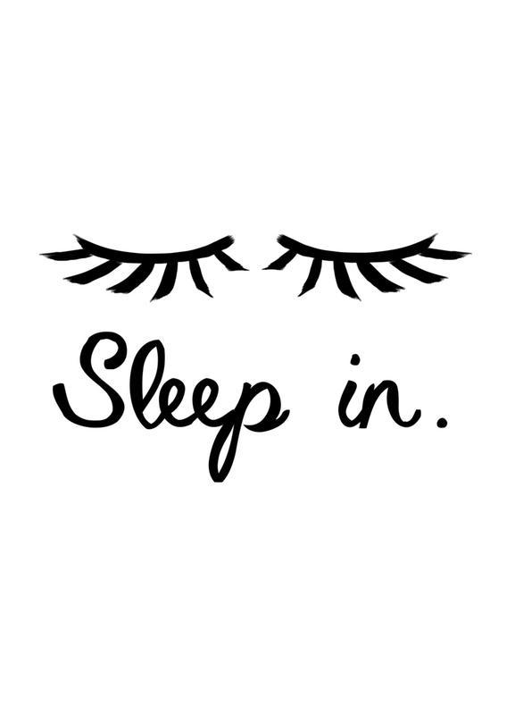 Sleep In Canvastavla