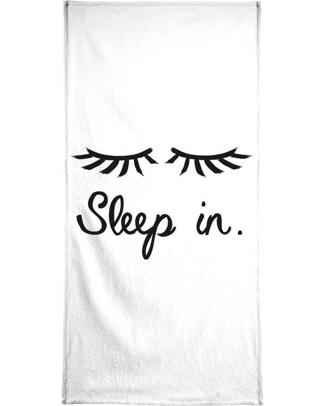 Schwarz & Weiß, Sleep In -Handtuch
