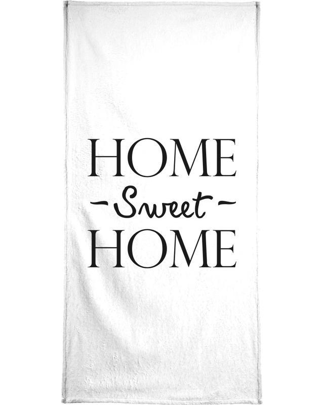 Schwarz & Weiß, Umzug, Home Sweet Home -Handtuch